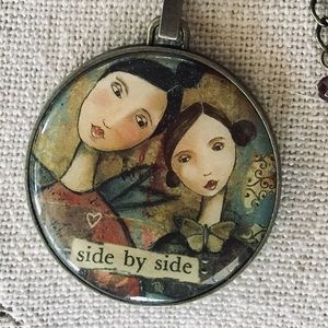 Necklace Side by Side Deeply Loved Mom DaughterNWT